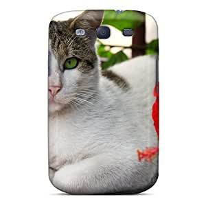 Defender Case With Nice Appearance (cat Flower) For Galaxy S3