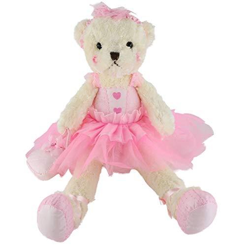Wewill Ballerina Teddy Bear Stuffed Animals Cute Soft Toy Plush Creative Doll Birthday Christmas Festivals Gift, 23-Inch,Pink ()