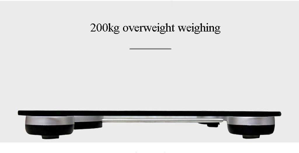 MUTANG Báscula de baño de Peso Digital de Alta precisión Báscula de Peso con tecnología Step-On, 200kg / 73 * 29mm, Pantalla Digital fácil de Leer - Vidrio Templado: Amazon.es: Hogar