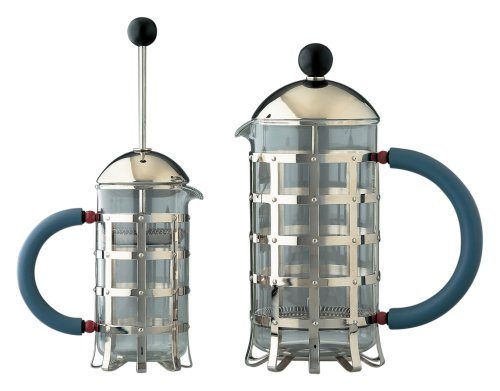 Alessi MGPF 3 Press Filter Coffee Maker, Graves Blue, Black by Alessi