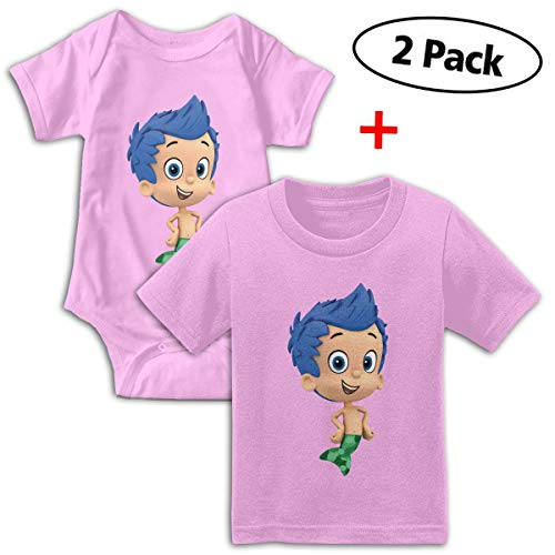 Bubble Guppies Babys Boy's & Girl's Short Sleeve Baby Climbing Clothes And Tshirt