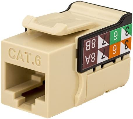 CAT6 RJ45 Keystone Jack Ivory Color - 50 Pack V-Max Series