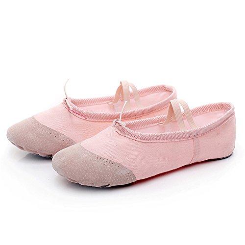 Practise Ballet Toile Yoga Rose Pour Clair De Split Semelle Pantoufle Oobest Danse Enfants Chaussures atxSp6a