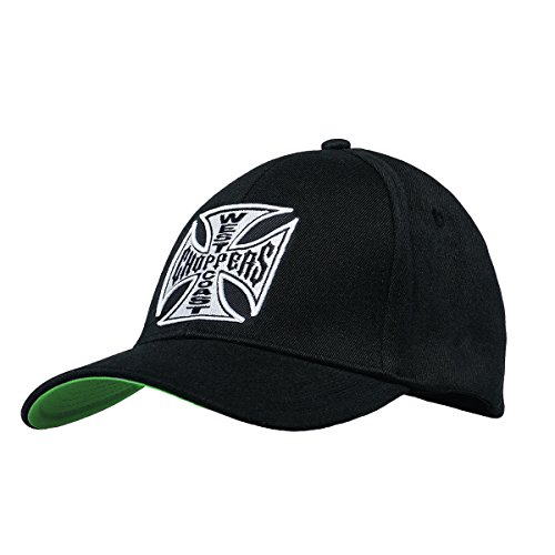 (West Coast Choppers Unisex Snapback Cap OG Cross Round Bill, Color:Black, Size:one Size)