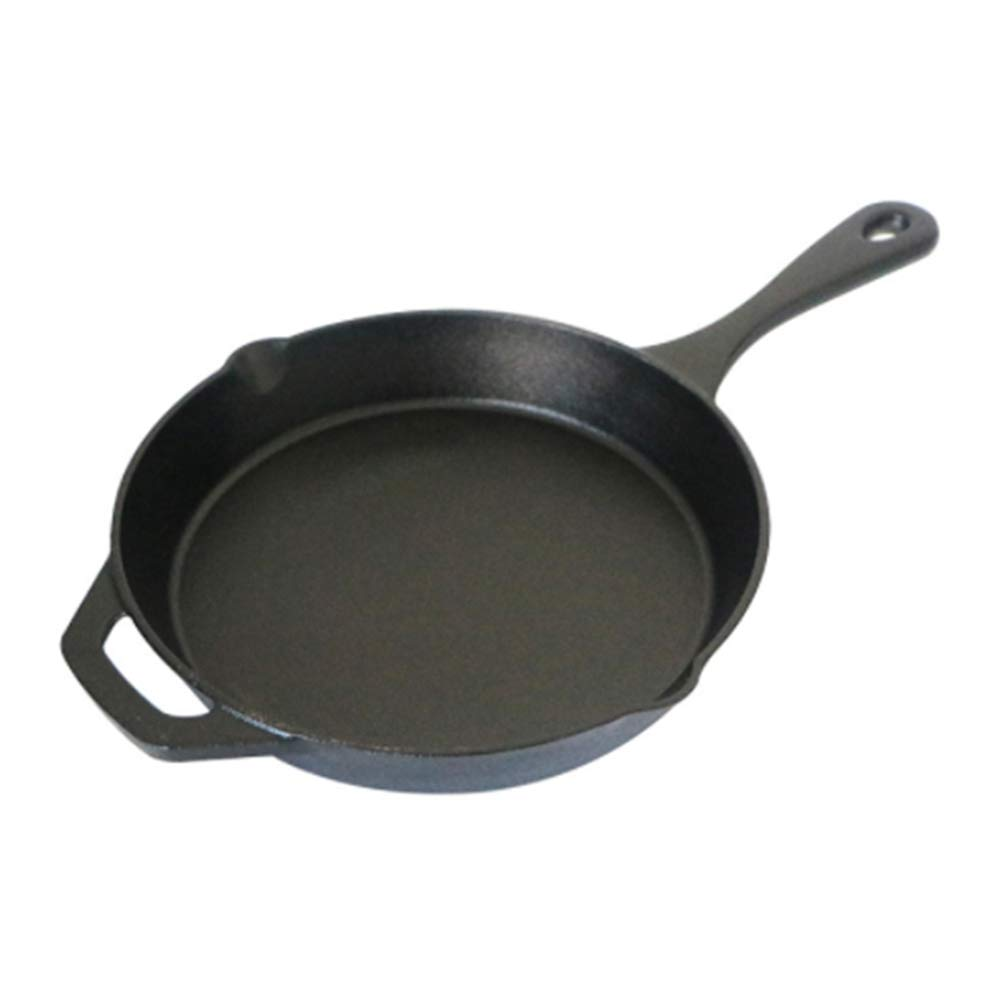 Pre-Seasoned Cast Iron Skillet 12 Inch | Helper Handle | For Frying Cooking Baking Broiling | Use On Induction Electric Gas Cooktop & In Oven | Holiday Gift Idea
