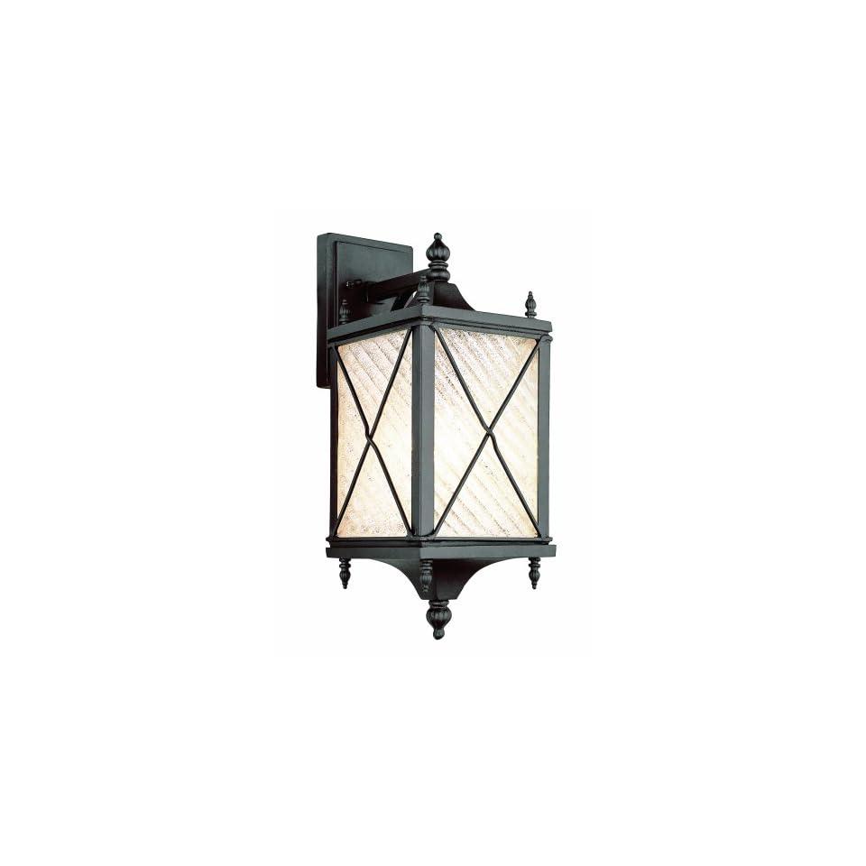 Trans Globe Lighting 5920 BK 17 Inch 1 Light Outdoor Wall Lantern, Black
