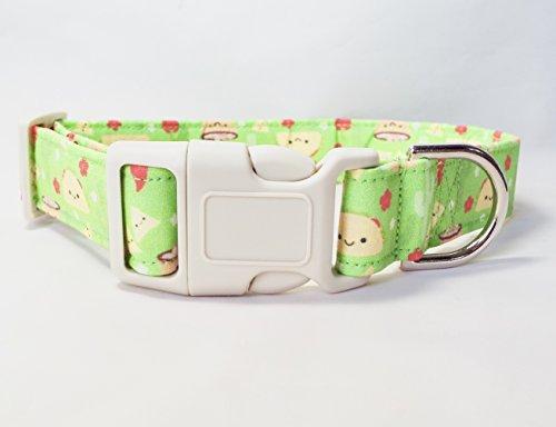 Cinco de Mayo Taco Handmade Fabric Dog Collar, adjustable, 100% cotton, FREE SHIPPING