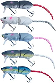 Hanging Pendant,Xdodnev Artificial Mouse Lure Swimbait Plastic Rat Fishing Bait with Hook Fish Tackle