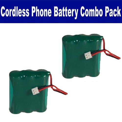 AT&T-Lucent 3301 Cordless Phone Combo-Pack includes: 2 x BATT-2414 Batteries by Synergy Digital