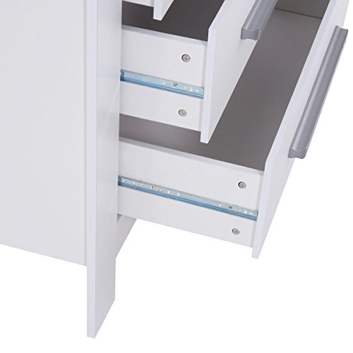 Costzon White Changing Table Dresser Baby Room Nursery Furniture Diaper Station 3 Drawer by Costzon (Image #6)