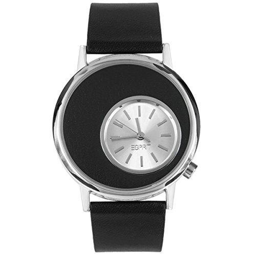 Esprit es105672001 43mm Stainless Steel Case Black Leather Mineral Men's Watch