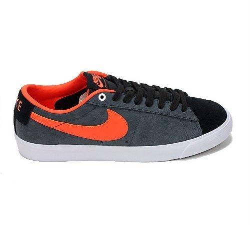 Nike SB Blazer Low Grant Taylor Skate Shoes Black Turf Orange - 5