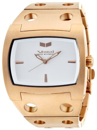 Vestal Destroyer Watch Rosegold/Rosegold/White, One Size by Vestal