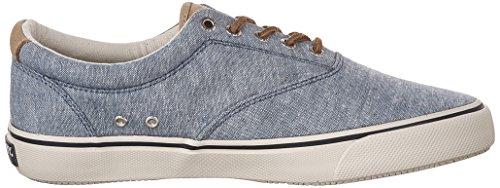 Sperry Top-sider Heren Striper Ll Cvo Fashion Sneaker Blauw Linnen