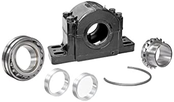 "Link-Belt PLB6879FR Spherical Roller Bearing Pillow Block, 4 Bolt Holes, Relubricatable, Non-Expansion, Cast Iron, Adapter Mounted, Inch, 4-15/16"" Bore Diameter"