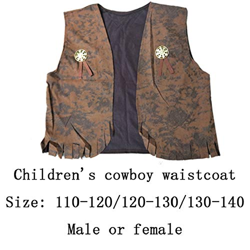 Halloween Costumes Adult Men and Western Cowboy Parent-Child Suit Western Cowboy Costume,Child,L