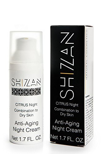 Shizan Organic Night Moisturizer, Natural Vitamin C & E 1.7 OZ. #1 professional skin care anti aging and anti wrinkles formula designed to nourish and Hydrate your face skin