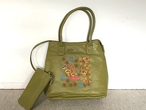 EthnicStudio | Juni Mukherjee | Hand-painted Designer Leather handbag with handmade embroidery