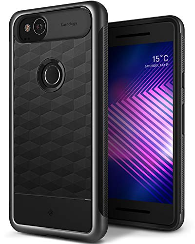 Caseology Parallax for Google Pixel 2 Case (2017) - Award Winning Design - Charcoal Gray