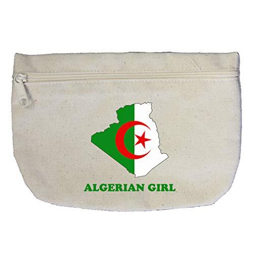 Algerian Girl Cotton Canvas Makeup Bag Zippered Pouch