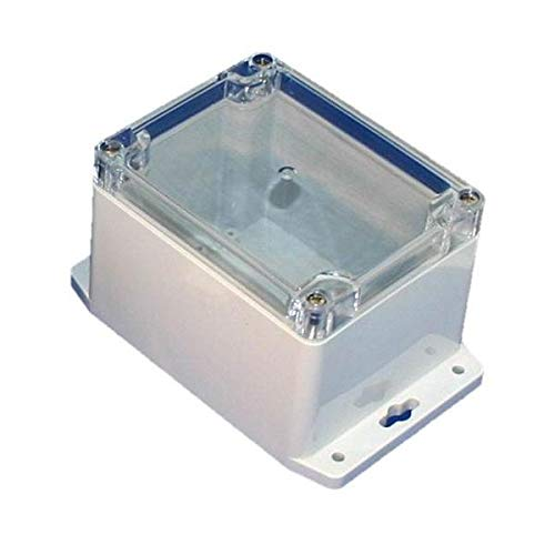 BUD Industries PN-1332-MB Nema 4X Polycarbonate Box with Mounting Brackets Opaque Lid