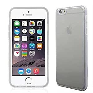 LCJ Slim Triple Transparent TPU Soft Case for iPhone 6 Plus(Assorted Colors) , White