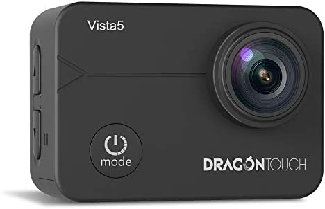 Dragon Touch Vista5 Action Camera 4k Ultra Hd 12mp Wifi Underwater 40m Video Eis Anti Shake Cam With Touch Screen Remote Control Waterproof Case And Mounting Accessories Kit