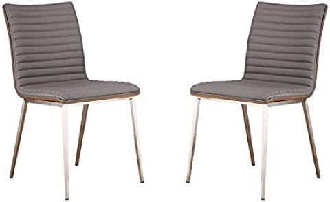 Armen Living Caf Dining Chair Brushed