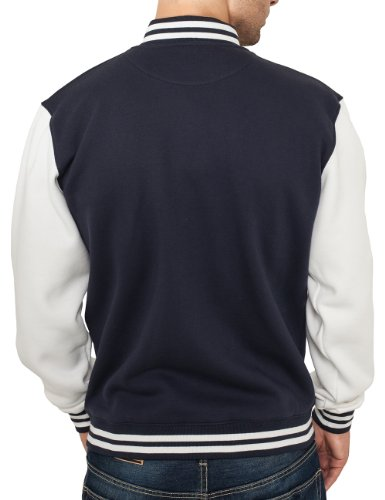 Uomo Urban Bekleidung navy Classics Multicolore College Felpa Sweatjacket white Tone 2 p0Zpq