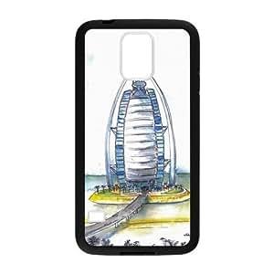 Custom Dubai Burj Al Arab Hotel Design Samsung Galaxy S5 Plastic Case Cover hjbrhga1544
