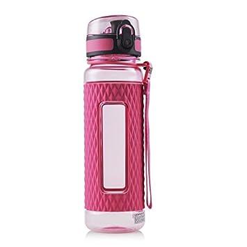 Uzspace Botella de agua, libre de BPA, fabricada con copoliéster tritan de