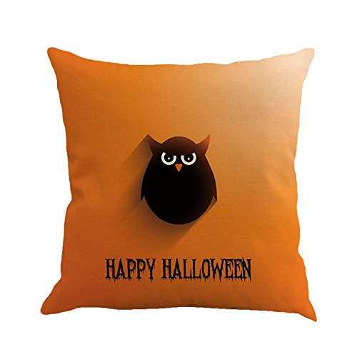 CHIDY Happy Halloween Square Pillow Cases Linen Sofa