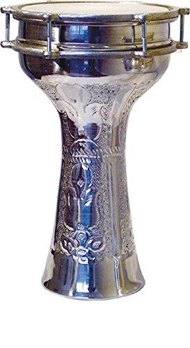 VATAN 305Derbouka Turkish carved large size with sonnaille Diameter 23cm grey by VATAN