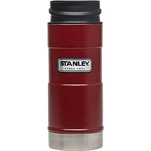 Stanley Classic One Hand Vacuum Mug, Hammer Tone Crimson, 12-Ounce