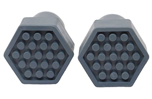 Pivit Non-Slip Replacement Crutch Tips | Gray | Pack of 2 | Rubber Feet for Any 7/8