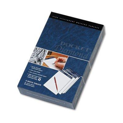 Docket Diamond Junior Legal Ruled Pads, 5 x 8, White, 4 50-Sheet Pads/Box, Sold as 1 Box, 4 Each per Box