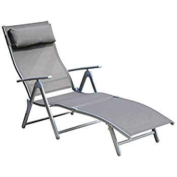 Amazon Com Outsunny Patio Reclining Chaise Lounge Chair