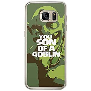 Loud Universe Samsung Galaxy S7 Edge Clash of Clans You Son of a Goblin Printed Transparent Edge Case - Green
