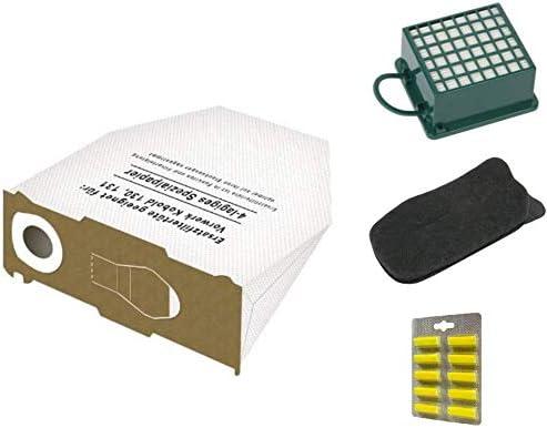Vorwerk Kobold VK130 VK131 * PROMO * 8 x bolsa aspirador + filtros ...