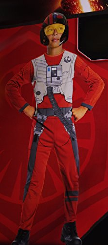 Boys Star Wars Poe Dameron X Wing Fighter Costume with Mask Large 10-12