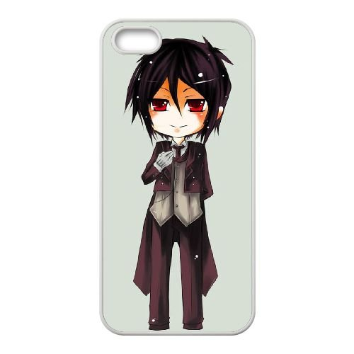 black Butler J9K20X9UO coque iPhone 4 4s case coque cover white 63SYX3