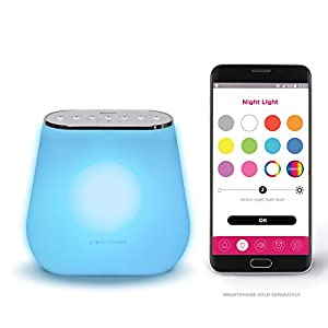 Smart Night Lights for Kids with Multi-Color White Noise Machine & Sleep Soother – with Ok-to-Wake, Amazon Alexa Feature,