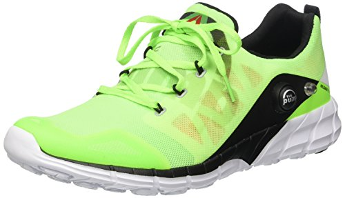 Reebok zpump fusion 2.0 scarpe running verde fluo uomo-45