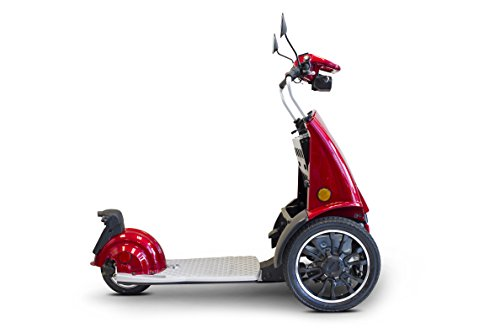 E-Wheels - EW-77 EDGE Scooter - 3-Wheel - Red - features a f