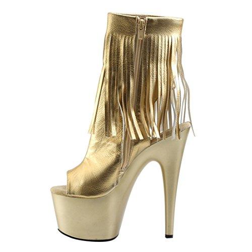 EU Gold Pu Gold Metallic Bottes Adore Classiques Matte 38 Noir Femme Pleaser zZxYTw4vqn