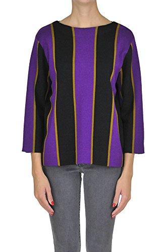 DRIES VAN NOTEN Women's Mcglmgp02293i Black/Purple Wool - Van Noten Women Dries