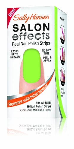 Sally Hansen Salon Effects Real Nail Polish Strips, Groove, 16 Count