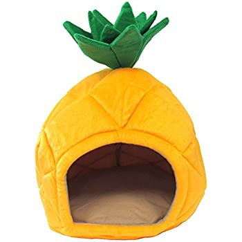 YML Pineapple Pet Bed House, Small, Yellow