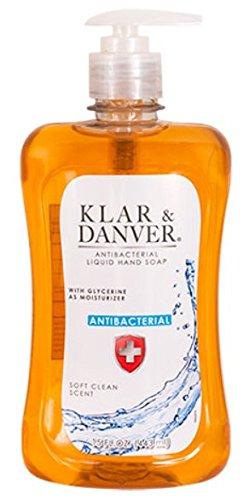 Lot of 2 Klar & Danver Antibacterial Liquid Hand Soap, 15-oz./ Bottles ()