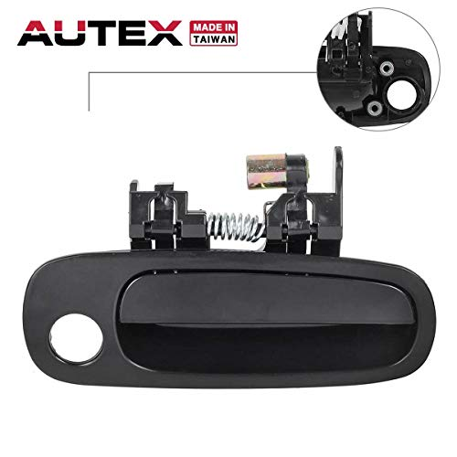 AUTEX Door Handle Outside Outer Exterior Front Right Passenger Side Compatible with Toyota Corolla,Chevrolet Prizm 1998 1999 2000 2001 2002 77567, 80424, 69210-02030 ()